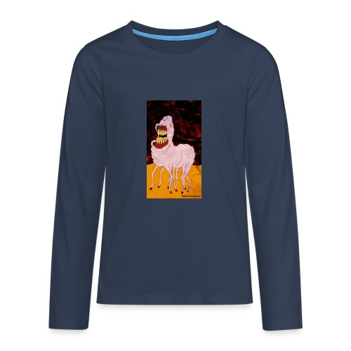 monster - Långärmad premium T-shirt tonåring