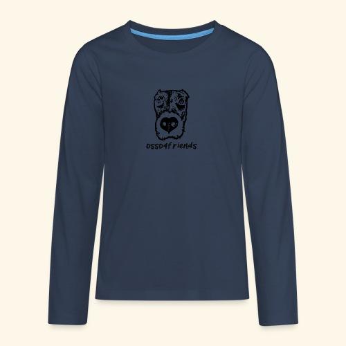 Logo NERO TRASPARENTE creative - Maglietta Premium a manica lunga per teenager