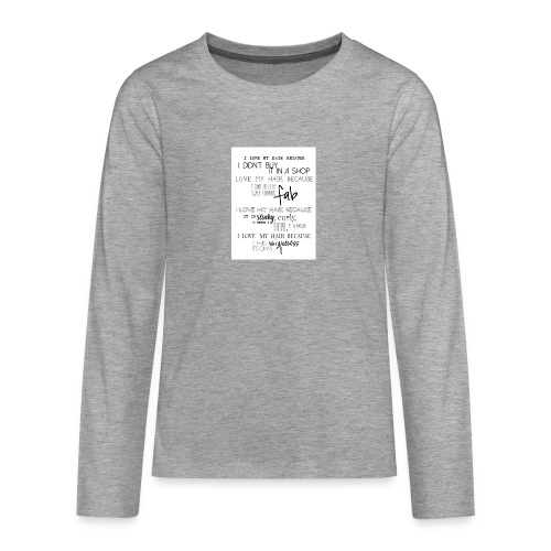 I LOVE MY HAIR - Teenagers' Premium Longsleeve Shirt