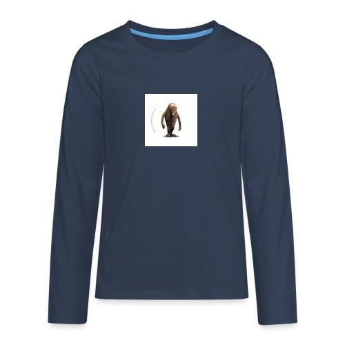 button hempel weiss - Teenager Premium Langarmshirt