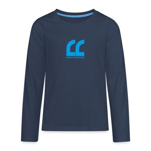 blue - Teenagers' Premium Longsleeve Shirt