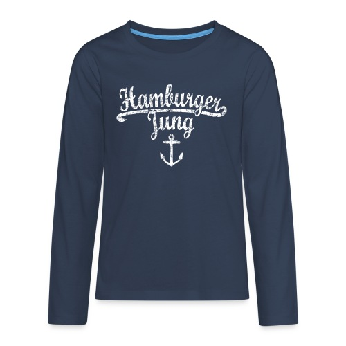 Hamburger Jung Klassik (Vintage Weiss) Hamburg - Teenager Premium Langarmshirt