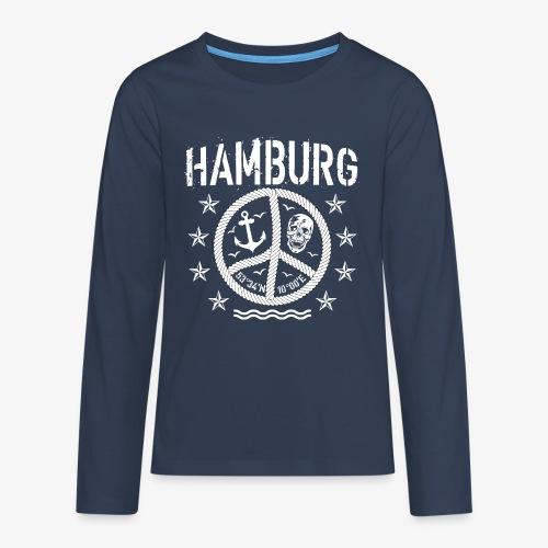 105 Hamburg Peace Anker Seil Koordinaten - Teenager Premium Langarmshirt