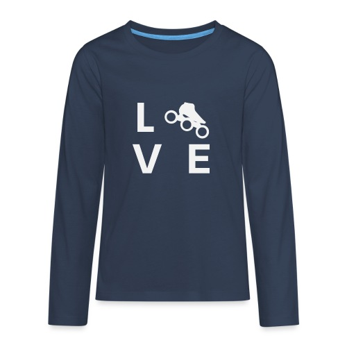 Speedskating Liebe - Teenager Premium Langarmshirt