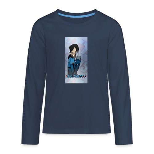 Valp Mobilskal png - Långärmad premium T-shirt tonåring