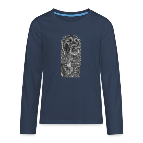cockerSpaniel black - M - Teenager premium T-shirt med lange ærmer