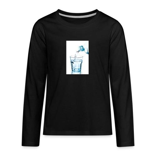 Glas-water-jpg - Teenager Premium shirt met lange mouwen
