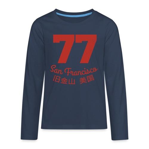 77 san francisco usa - Teenager Premium Langarmshirt