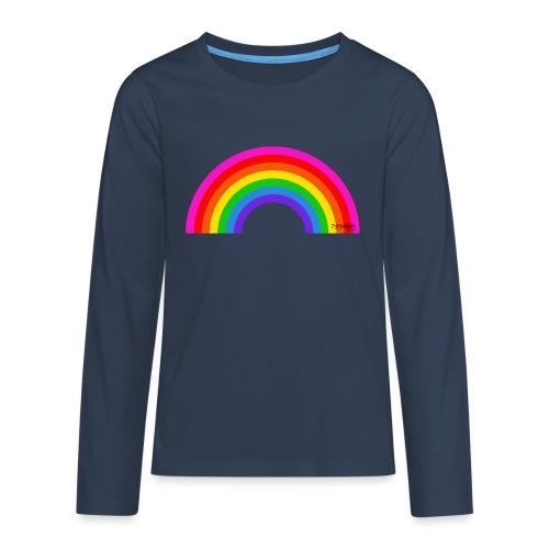 Rainbow - Teinien premium pitkähihainen t-paita