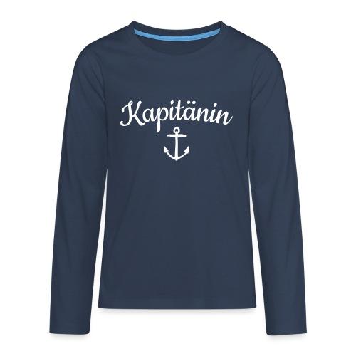 Kapitänin Anker Segel Käpt'n Segeln - Teenager Premium Langarmshirt
