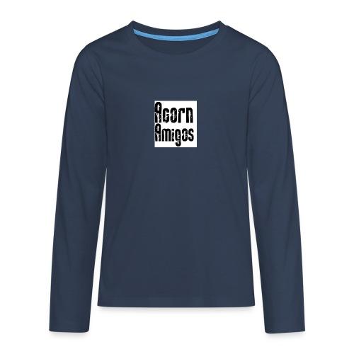acorn amigos badge - Långärmad premium T-shirt tonåring