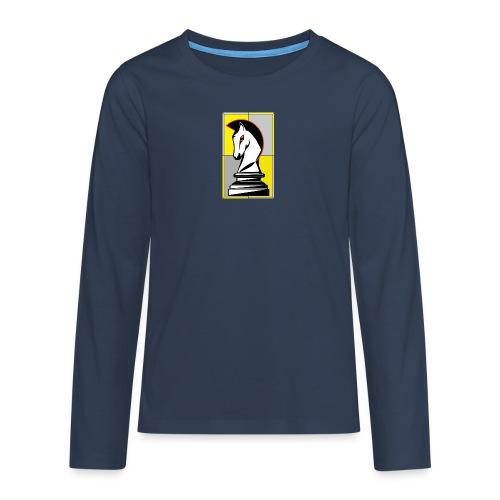 cavallo Scacchi Vers 2 - Maglietta Premium a manica lunga per teenager