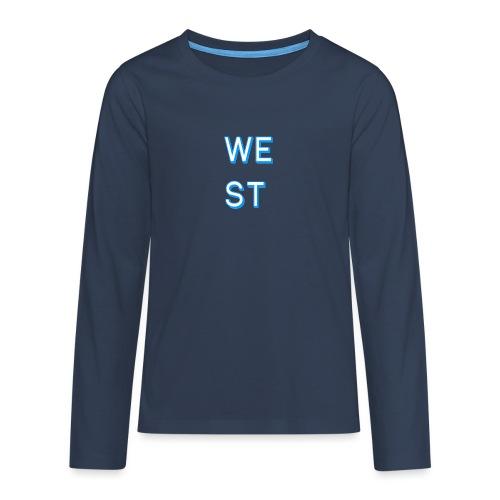 WEST LOGO - Maglietta Premium a manica lunga per teenager