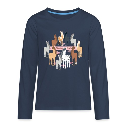 Freedom Hills - Teenagers' Premium Longsleeve Shirt