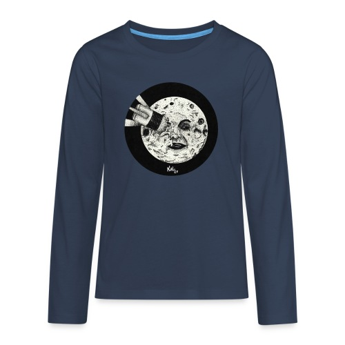 Viaje a la luna (Tributo a George Méliès) - Camiseta de manga larga premium adolescente