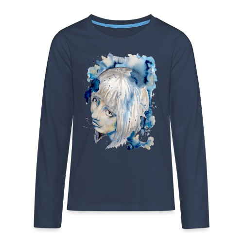 Nieves watercolorpainting by carographic - Teenager Premium Langarmshirt
