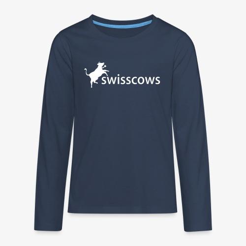 Swisscows - Logo - Teenager Premium Langarmshirt