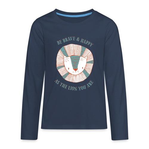 Brave lion - Teenagers' Premium Longsleeve Shirt