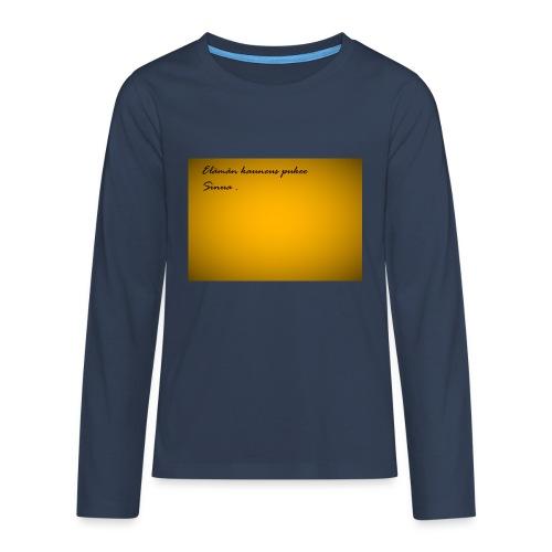 Kirje... - Teinien premium pitkähihainen t-paita
