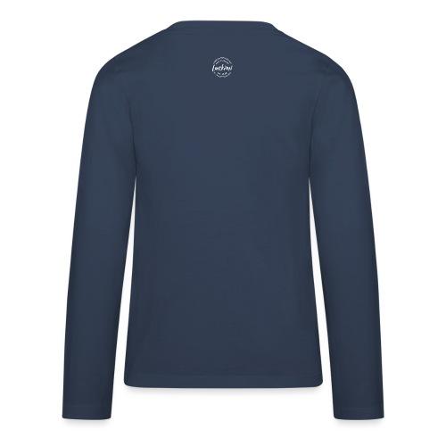 Luckimi logo circle small white back - Kids - Teenagers' Premium Longsleeve Shirt