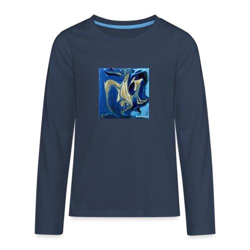TIAN GREEN Welt Mosaik - AT042 Blue Passion - Teenager Premium Langarmshirt
