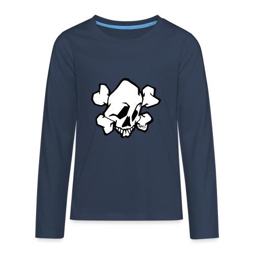 Graffiti Skull - Teenager premium T-shirt med lange ærmer