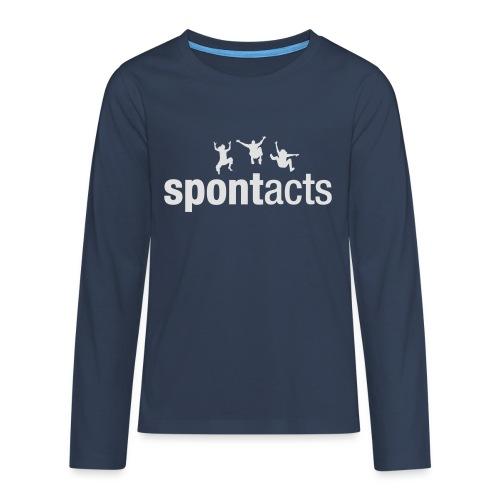 spontacts_Logo_weiss - Teenager Premium Langarmshirt