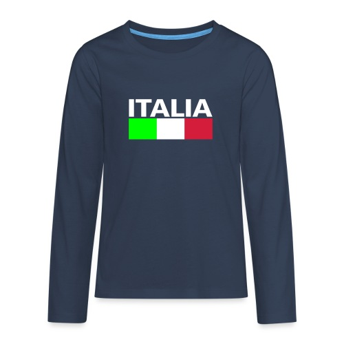 Italia Italy flag - Teenagers' Premium Longsleeve Shirt
