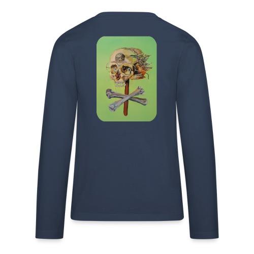 oil painting of skull and bones - Teenager Premium shirt met lange mouwen