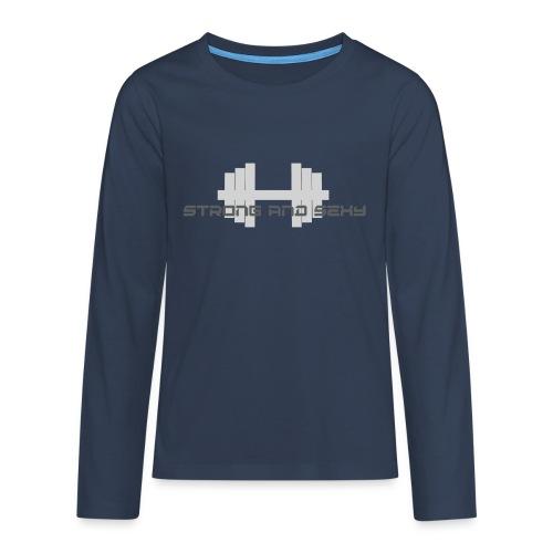 sasdumbell3 png - Teenager Premium shirt met lange mouwen