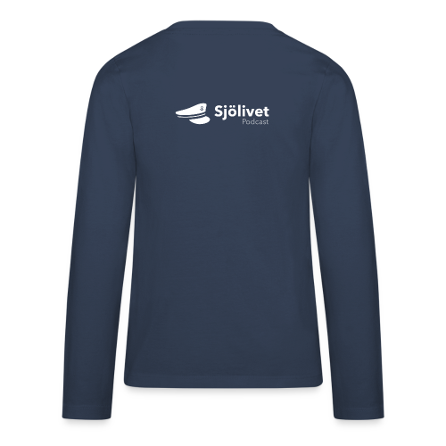 Sjölivet podcast - Vit logotyp - Långärmad premium T-shirt tonåring