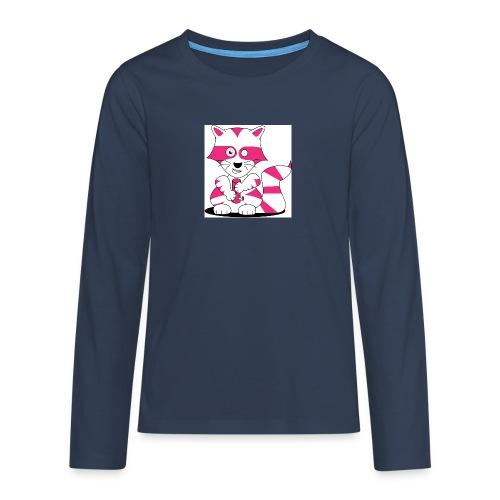 randolpf the raging racoon Digitalmotiv - Teenager Premium Langarmshirt