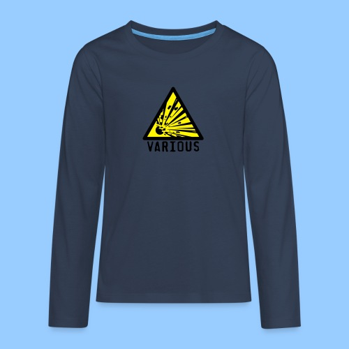 VariousExplosions Triangle (2 colour) - Teenagers' Premium Longsleeve Shirt