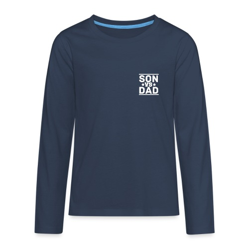 son vs dad logo pink - Teenagers' Premium Longsleeve Shirt