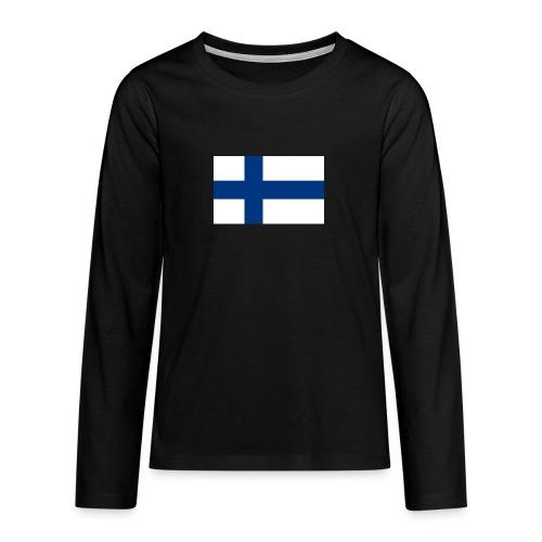 800pxflag of finlandsvg - Teinien premium pitkähihainen t-paita