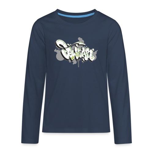 Mesk 2Wear graffiti style 7up ver02 - Teenager premium T-shirt med lange ærmer