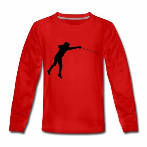 Jumping Fencer - Teenager Premium Langarmshirt