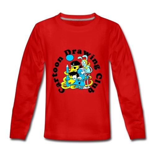 Cartoon Drawing Club - Teenagers' Premium Longsleeve Shirt