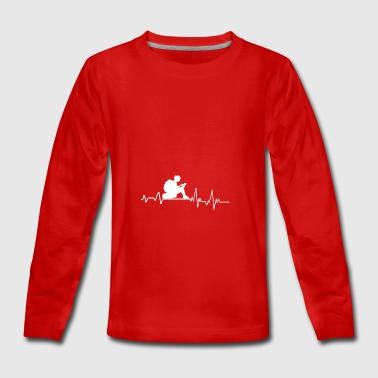 Battement de coeur lu cadeau T-shirt Bookworm Livre - T-shirt manches longues Premium Ado