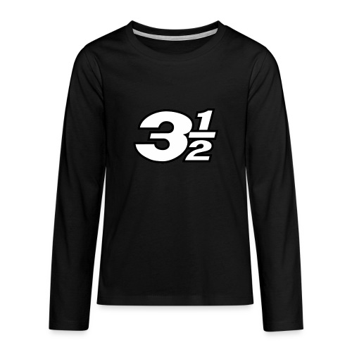 Three and a Half Logo - Teenagers' Premium Longsleeve Shirt