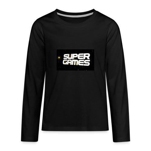 #SuperGames - Teenager Premium Langarmshirt
