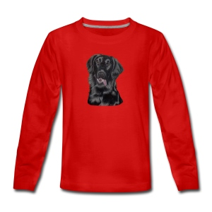 flatcoated retriever p - Teenager premium T-shirt med lange ærmer