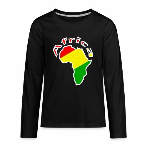 Afrika - rot gold grün - Teenager Premium Langarmshirt
