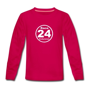 Race24 round logo white - Teenagers' Premium Longsleeve Shirt