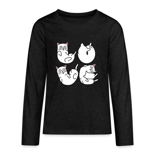 Schlafende Katzen in verschiedenen Positionen - Teenager Premium Langarmshirt