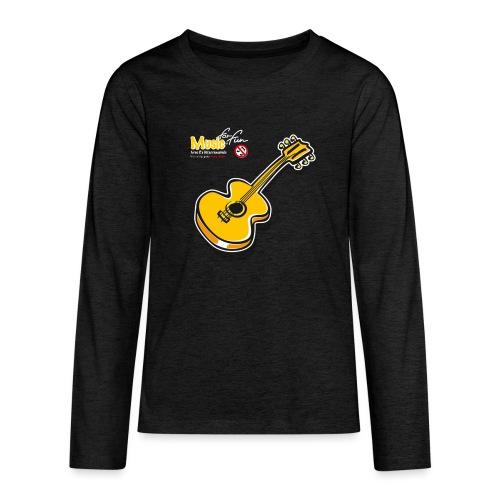 MusicForFun - dunkler Hintergrund - Teenager Premium Langarmshirt