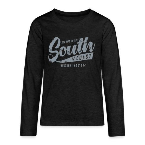 ETELÄRANNIKKO, SOUTH COAST HELSINKI COOL T-SHIRTS - Teinien premium pitkähihainen t-paita