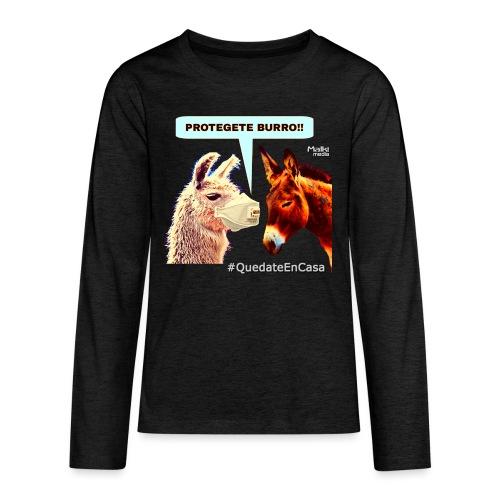 PROTEGETE BURRO - Teenagers' Premium Longsleeve Shirt