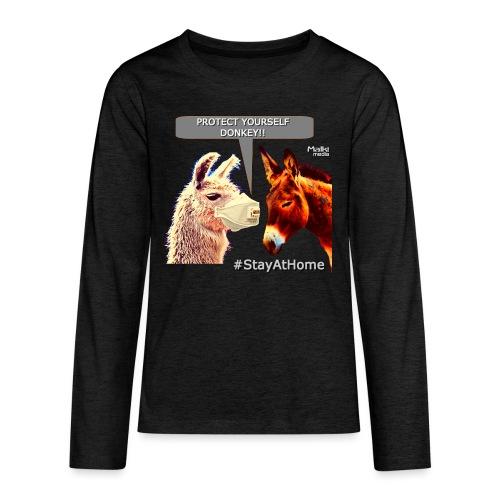 Protect Yourself Donkey - Coronavirus - Camiseta de manga larga premium adolescente