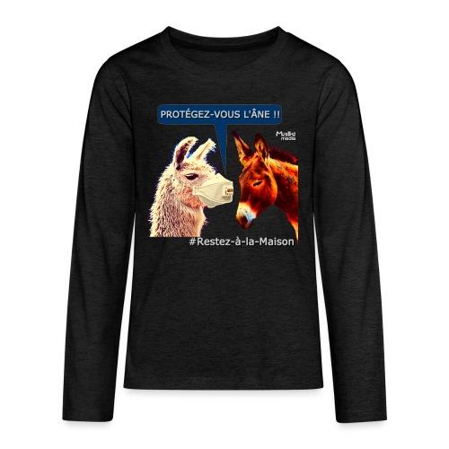 PROTEGEZ-VOUS L'ÂNE !! - Coronavirus - Camiseta de manga larga premium adolescente